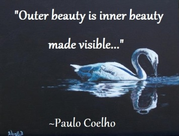 Perceiving outer beauty requires possessing inner beauty.
